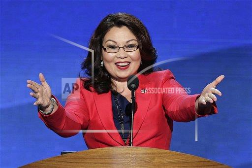 Candidate Duckworth at 2012 Democratic Convention in Chicago.  Credit:  AP Photo by J. Scott Applewhite.